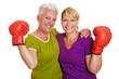 Aktive Frauen mit Boxhandschuhen