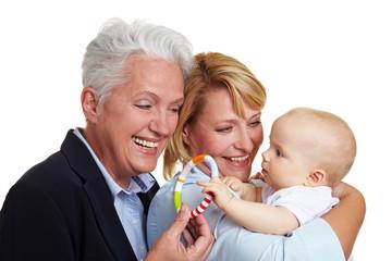 Oma schenkt Enkel Beissring