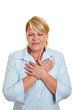 Geschäftsfrau mit Herzinfarkt