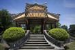 antico edificio nella cittadella imperiale di Huè in vietnam
