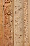 Beautiful carvings on Sandstone slab poster