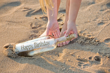 birthday message in bottle