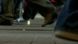 crowd feet-walking in street