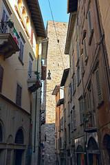 Via Gombito, Bergamo, Lombardy, Italy, Europe