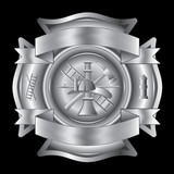Firefighter Cross Silver