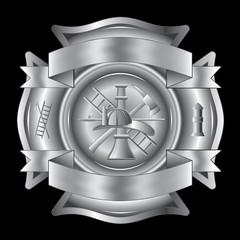 Firefighter Cross Silver
