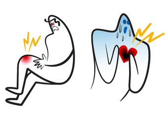 痛みの絵-膝と心臓