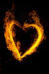 炎のハート