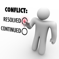 Choose to Resolve or Continue Conflicts - Conflict Resolution