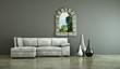 Wohndesign - weißes Sofa vor Fenster