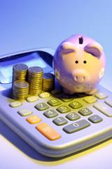 Calculator with  Piggybank