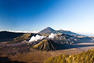 Amazing sunrise at Bromo Tengger Semeru national park.