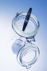 Spoon in Glass Jar