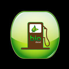 bio diesel gas pump icon