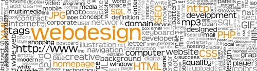 Webdesign Banner, Homepage, Keywörter, Begriffe, Wörter