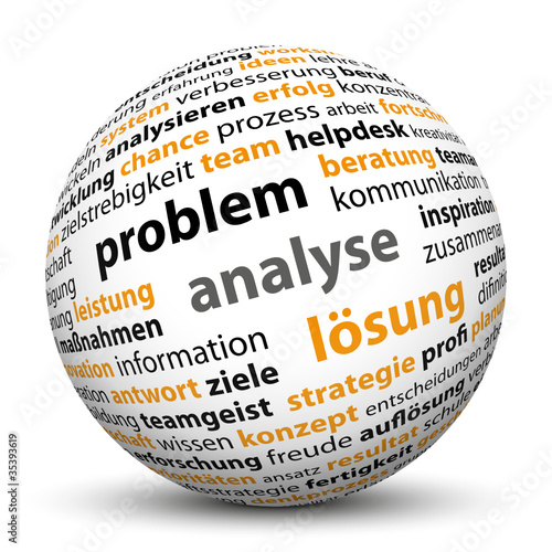 Kugel, Problem, Analyse, Lösung, 3D, Tag Cloud, Keyword