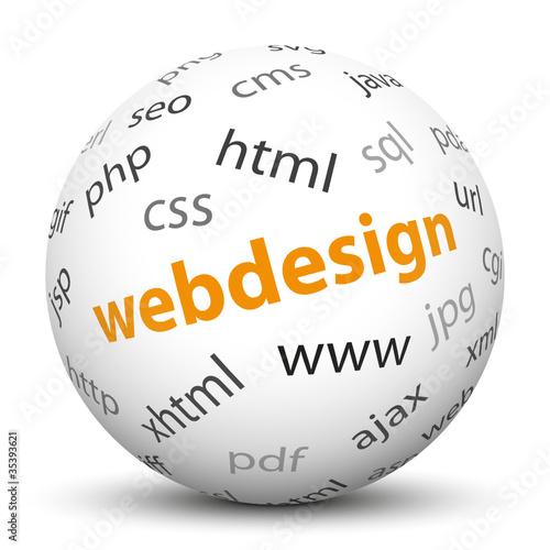 3D Kugel, Webdesign, HTML, CSS, PHP, CMS, SQL, SEO