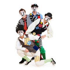 portrait of motley mimes