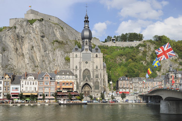meuse, notre dame and citadelle, dinant