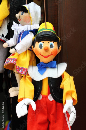 Pinocchio, the italian wooden puppet
