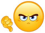 Fototapety Dislike emoticon