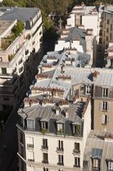 Toit parisien en zinc