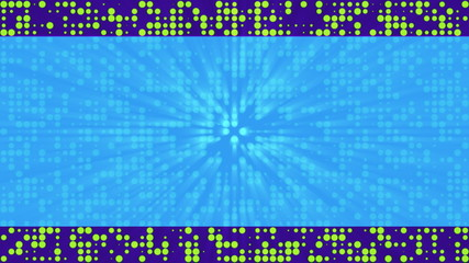Blue Green Dots Text Friendly Looping Animated Background