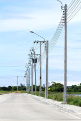 Electric cement pole
