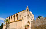 Alcudia Sant Jaume church near roman castle wall Mallorca