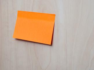 Orange self-adhesive office sticker