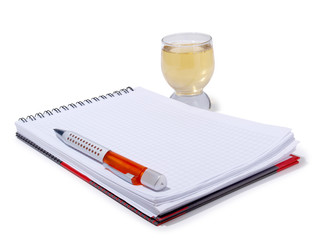 Notebook and cup