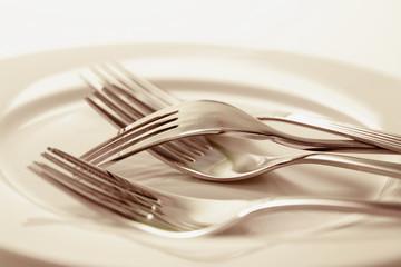 Forks on Plate