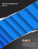 Abstract blue design background poster