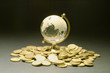 Crystal Globe and Coins