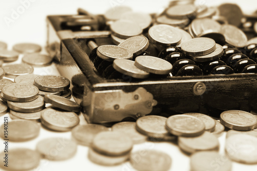 Gold Coins and Abacus