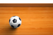 A ball on wooden floor as background
