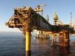 Leinwanddruck Bild - Large North Sea oil rig