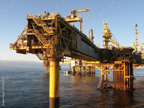 Large North Sea oil rig