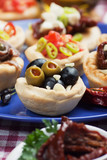 Olives in bred cup, appetizer series poster