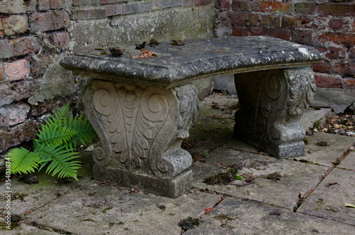 Weathered Stone Bench