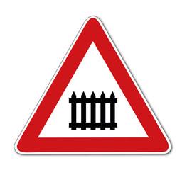 Verkehrszeichen Schranke