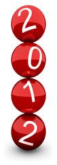 2012 vœux 3d boules rouges