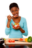 Health Conscious young woman poster
