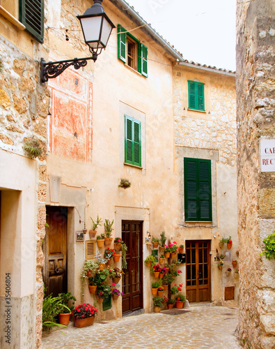 Medieval Valldemosa traditional Majorca village