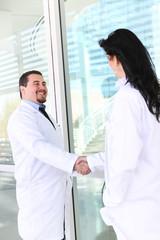 Doctor Handshake at Hospital