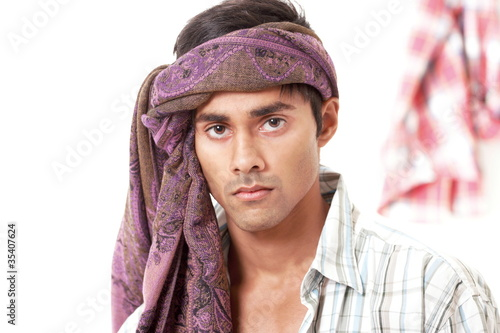 Handsome villager from north indian subcontinent