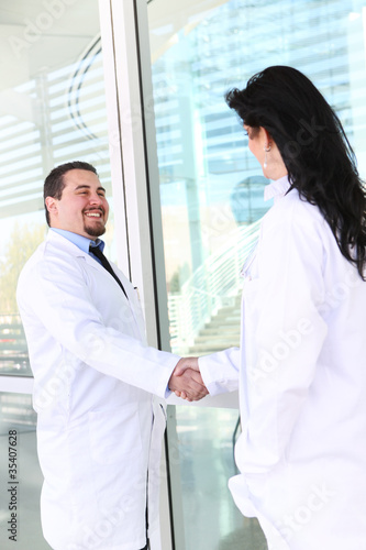 Doctor Handshake at Hospital
