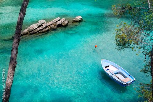Calvia Cala Fornells turquoise mediterranean in Majorca - 35407806