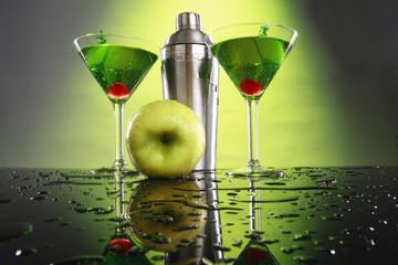 Apple martini and shaker