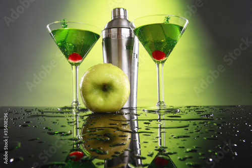 Apple martini and shaker